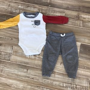 """Carter's Baby Boy """"Handsome Fella"""" Outfit"""